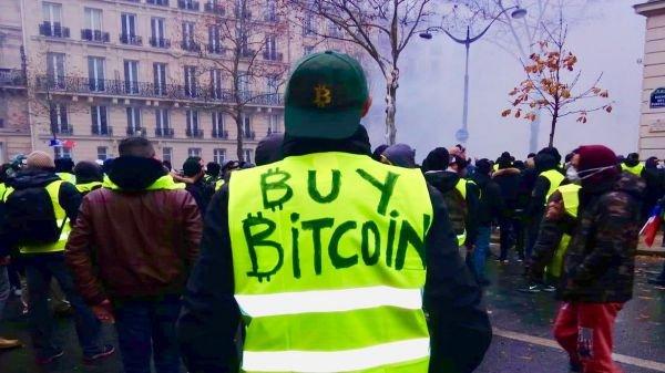Buy Bitcoin Gilets Jaunes